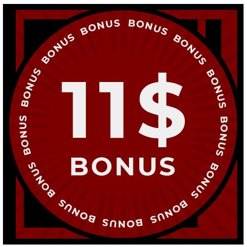 Бонус 11$ после регистрации